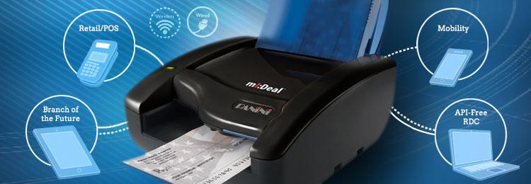 mI:Deal check scanner specializes in POS Capture
